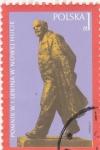 Sellos de Europa - Polonia -  estatua de Lennin