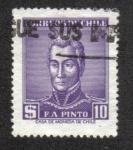 Sellos de America - Chile -  Francisco Antonio Pinto (1785-1858)
