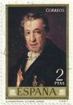 Stamps Spain -  AUTORRETRATO. VICENT LÒPEZ PORTAÑA. EDIFIL 2147