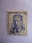 Sellos de Europa - Checoslovaquia -  Antolin Zapotocky  (1884-1957)