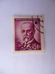 Sellos de Europa - Checoslovaquia -  Tomás Masaryk  (1850-1937)