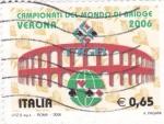 Stamps Italy -  campeonato del mundo de Bridge en Verona