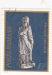 Sellos de Europa - Rumania -  estatua mujer rumana