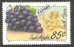 Sellos del Mundo : Africa : Sudáfrica : 834 - Producto de exportación, uvas
