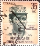 Stamps : Africa : Equatorial_Guinea :  Intercambio 0,20 usd 35 b. 1981