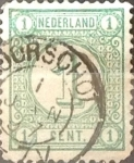 Stamps : Europe : Netherlands :  Intercambio 0,20 usd 1 cent. 1894