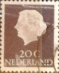 Stamps Netherlands -  Intercambio 0,20 usd 20 cents. 1953