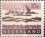 Stamps : Europe : Netherlands :  Intercambio 0,20 usd 10 cents. 1963