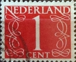 Stamps Netherlands -  Intercambio 0,20 usd 1 cents. 1946