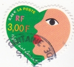 Stamps France -  Ives Saint Laurent- diseñador de moda