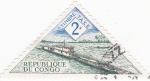 Stamps Republic of the Congo -  transporte fluvial