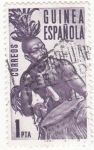 Stamps Spain -  músico guineano