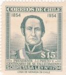 Sellos de America - Chile -  presidente J.J.Prieto
