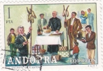 Sellos de Europa - Andorra -  els encants de Sant Antoni