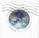 Stamps United States -  globo terraqueo