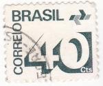 Sellos de America - Brasil -  cifras