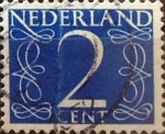 Stamps Netherlands -  Intercambio 0,20 usd 2 cents. 1946