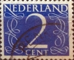 Stamps : Europe : Netherlands :  Intercambio 0,20 usd 2 cents. 1946