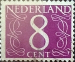 Stamps Netherlands -  Intercambio 0,20 usd 8 cents. 1957