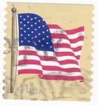 Sellos de America - Estados Unidos -  bandera de E.E.U.U