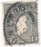 Stamps : Europe : Ireland :  mapa de Irlanda