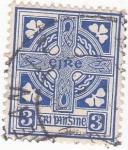 Sellos del Mundo : Europa : Irlanda : escudo celta