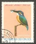 Stamps : Asia : Vietnam :  Pájaro alcedo althis