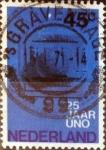 sello : Europa : Holanda : Intercambio 0,50 usd 45 cents. 1970