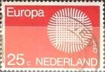 Sellos de Europa - Holanda -  Intercambio 0,20 usd 25 cents. 1970