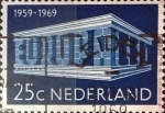Stamps Netherlands -  Intercambio crxf 0,20 usd 25 cents. 1969