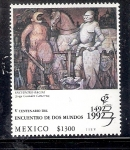 Sellos del Mundo : America : México : V Centenario del Encuentro de Dos Mundos