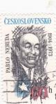 Stamps Czechoslovakia -  Pablo Neruda- poeta