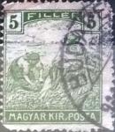 Sellos de Europa - Hungría -  Intercambio 0,20 usd 5 filler 1916