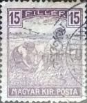 Sellos de Europa - Hungría -  Intercambio 0,20 usd 15 filler  1916