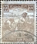 Stamps : Europe : Hungary :  20 filler  1916