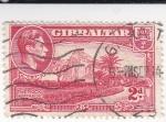 Sellos de Europa - Gibraltar -  peñon de Gibraltar