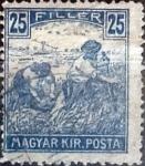 Sellos de Europa - Hungría -  Intercambio 0,20 usd 25 filler 1916