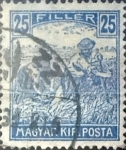 Stamps : Europe : Hungary :  25 filler 1916