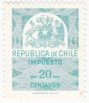 Stamps Chile -  impuesto