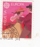 Stamps Switzerland -  Europa Cept -baile