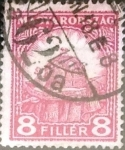Sellos de Europa - Hungría -  Intercambio 0,20 usd 8 filler 1926
