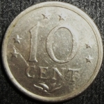 monedas de America - Antillas Neerlandesas -  1971 (Reverso)