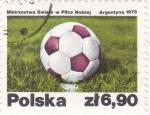 Stamps Poland -  pelota de futbol-Argentina-78