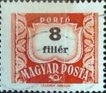 sellos de Europa - Hungría -  Intercambio 0,20 usd 8 filler 1958