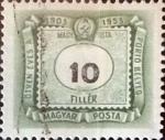 sellos de Europa - Hungría -  Intercambio 0,20 usd 10 filler 1953