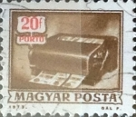 Stamps Hungary -  Intercambio 0,20 usd 20 filler 1973
