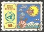 Sellos del Mundo : Asia : Mongolia : 38 - Centº de la Organización Metereológica Mundial