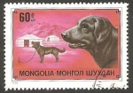 Stamps Mongolia -  Perro de raza