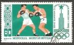 Stamps : Asia : Mongolia :  Juegos olímpicos en Moscú