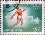 Stamps Hungary -  Intercambio jxi 0,20 usd 20 f. 1966
